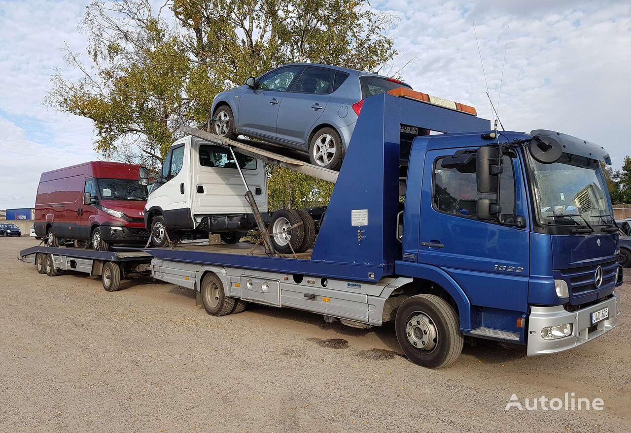 MERCEDES-BENZ ATEGO 1022, auto transporters Autotransporter + Autotransporter Anhänger
