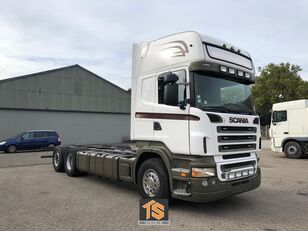 SCANIA R580 V8 TOPLINE - 3 AXLE - CHASSIS - MANUAL - RETARDER - TOP! Koffer-LKW