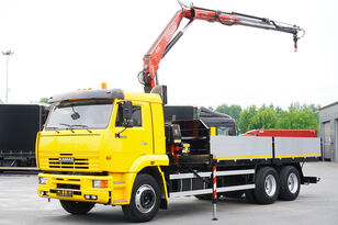 KAMAZ 65117 , 6x4 , Crane Fassi 95 , rotator , box 6m Pritsche LKW